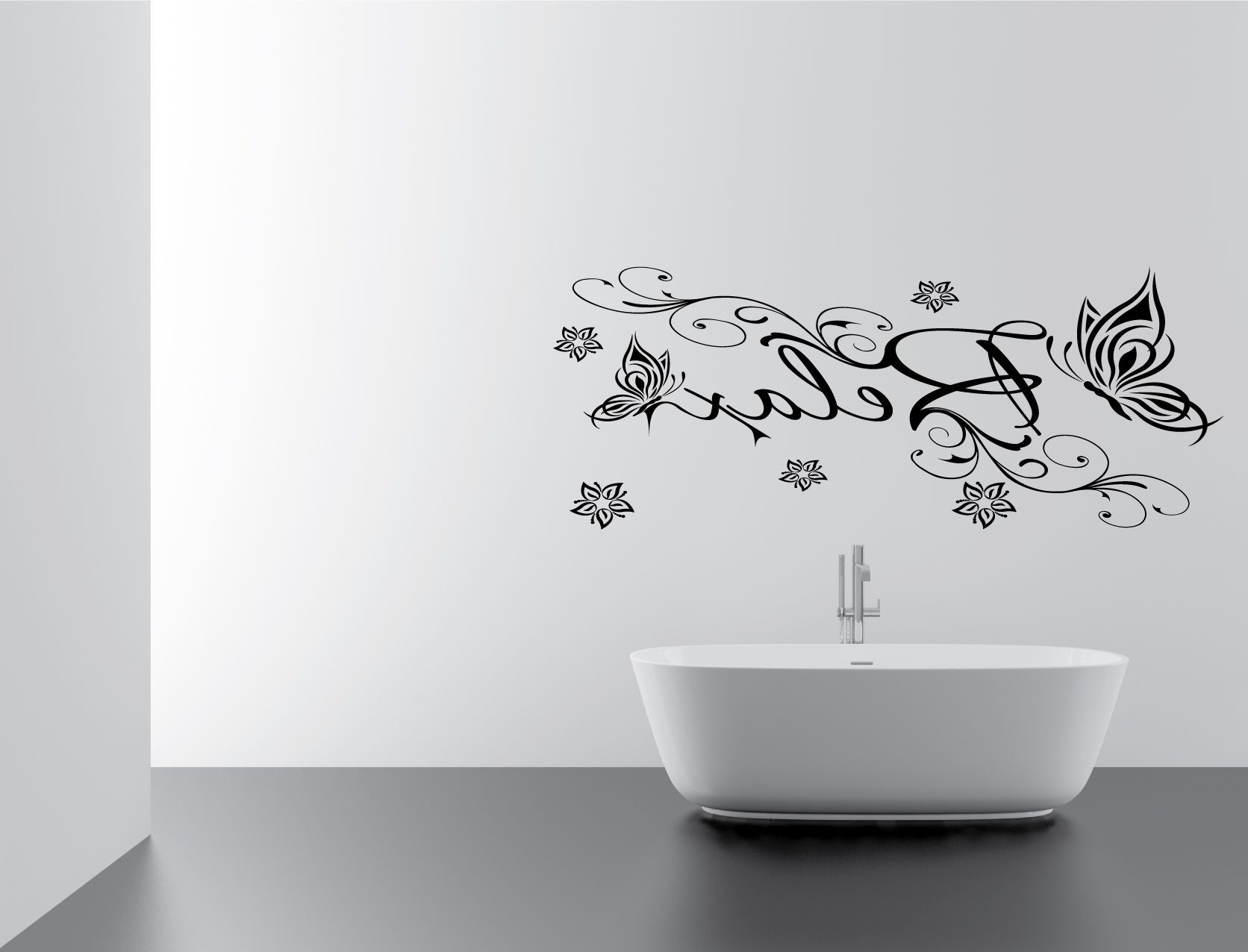 Black And White Bathroom Wall Art Inside Well Known Wall Art: Adorable Gallery Bathroomwall Art Stickers Amazon (View 14 of 15)