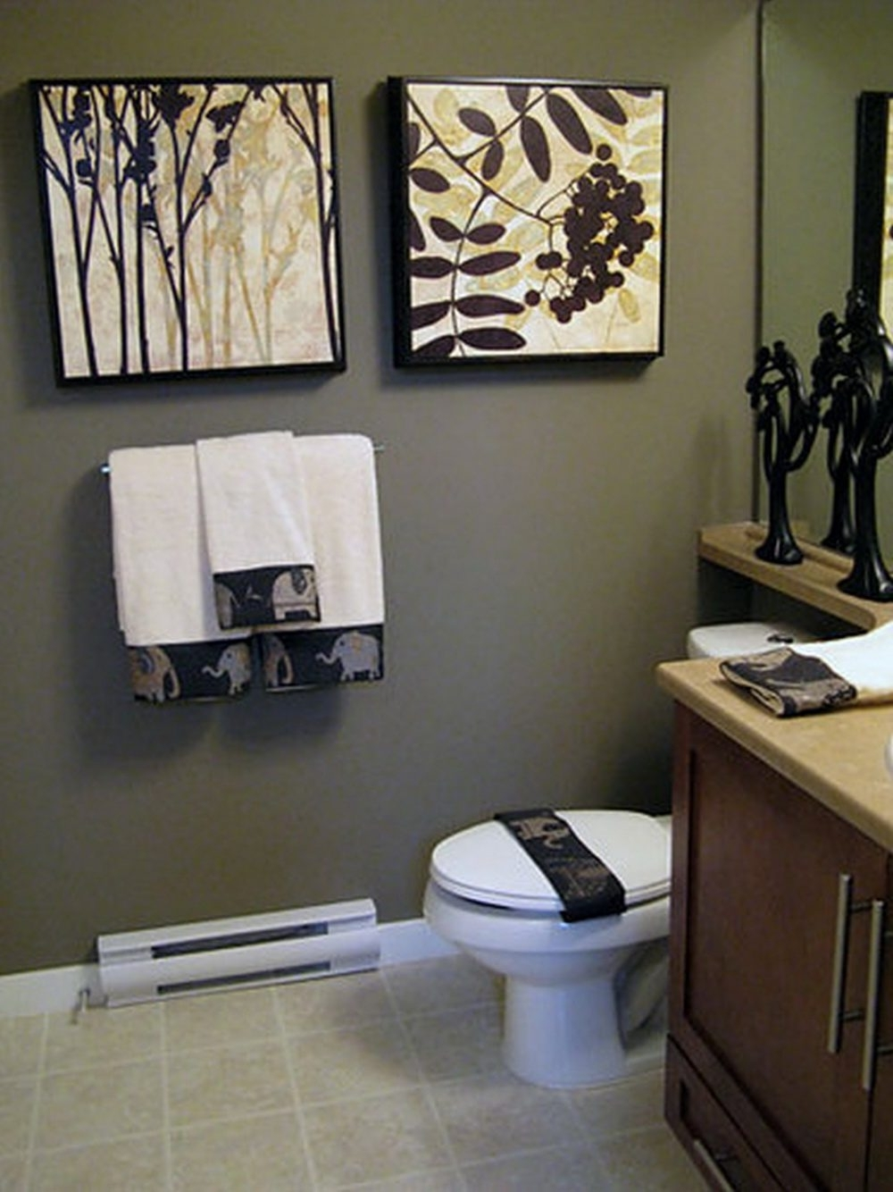 Black And White Bathroom Wall Art Within Famous Diy Bathroom Wall Art White Ceramic Sitting Flushing Water Brown (View 13 of 15)