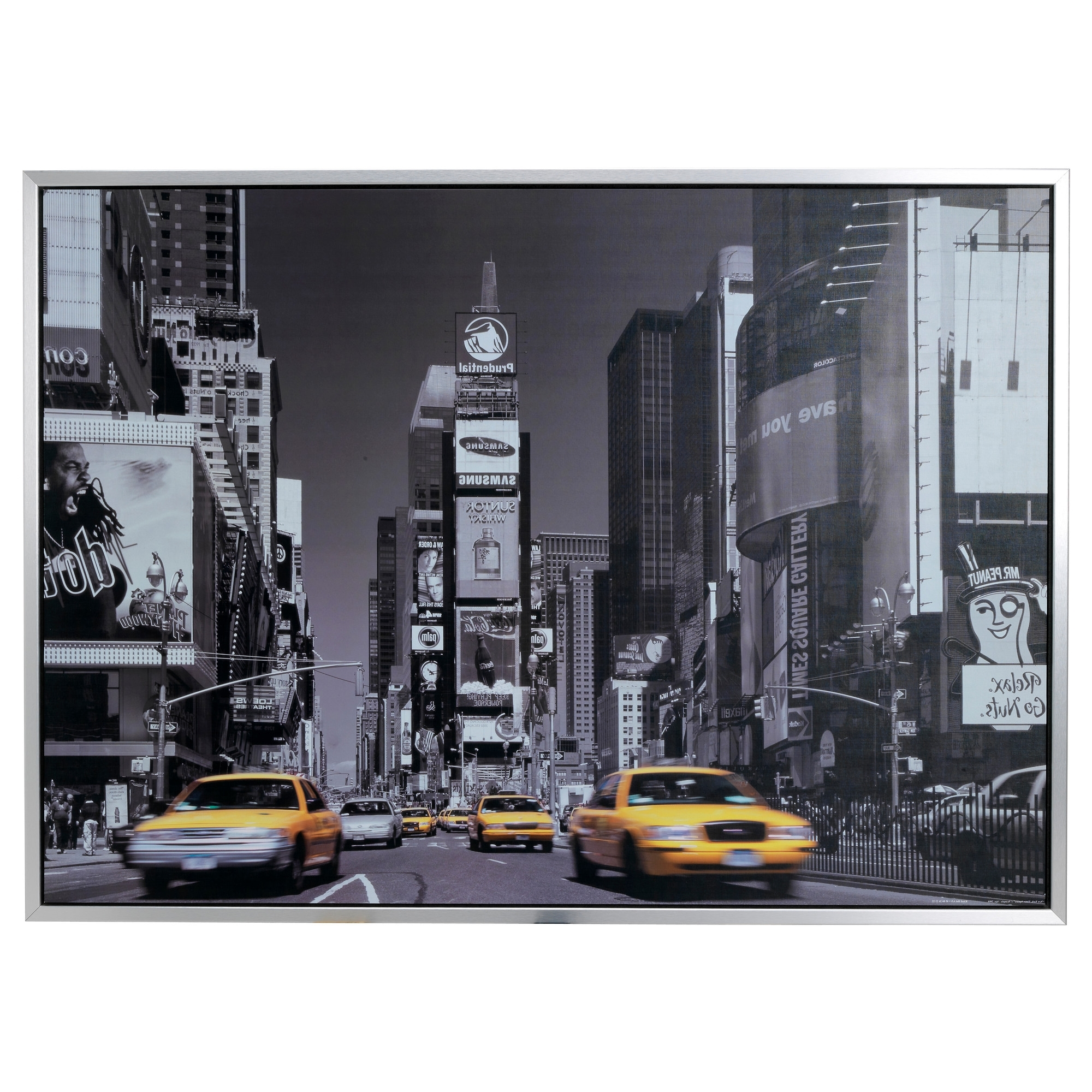 Black And White New York Canvas Wall Art Pertaining To Most Up To Date Perfect! It Has The Gray And The Yellow, Ethan Will Love It (View 3 of 15)