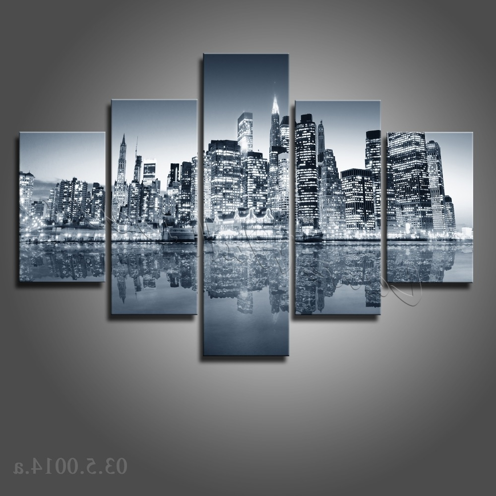 Black And White New York Canvas Wall Art With Latest Wall Art: Amazing Galleries New York Canvas Wall Art New York Wall (View 6 of 15)