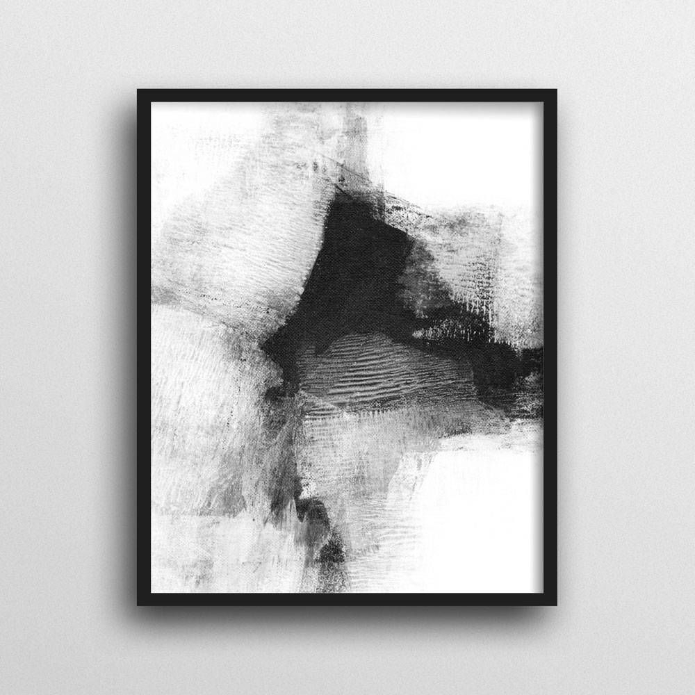 Black And White Wall Art For Most Current Scandinavian Print, Black & White Wall Art, Modern Art, Abstract (View 4 of 15)