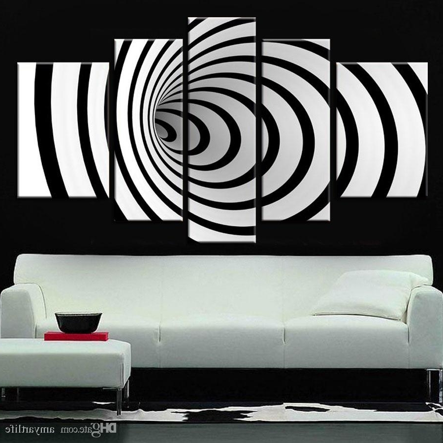 Black And White Wall Art Inside Newest 2018 Hand Painted Ideas Modern Canvas Art Picture Future Wall Art (View 5 of 15)