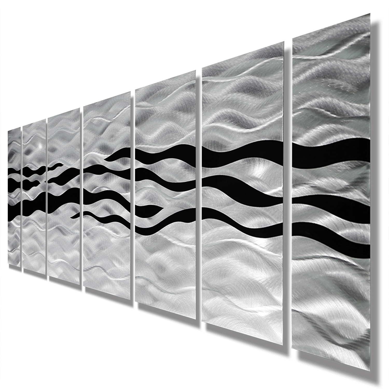 Black Silver Wall Art Intended For Favorite Wild Ways – Silver And Black Modern Metallic Wall Hanging (Gallery 6 of 15)