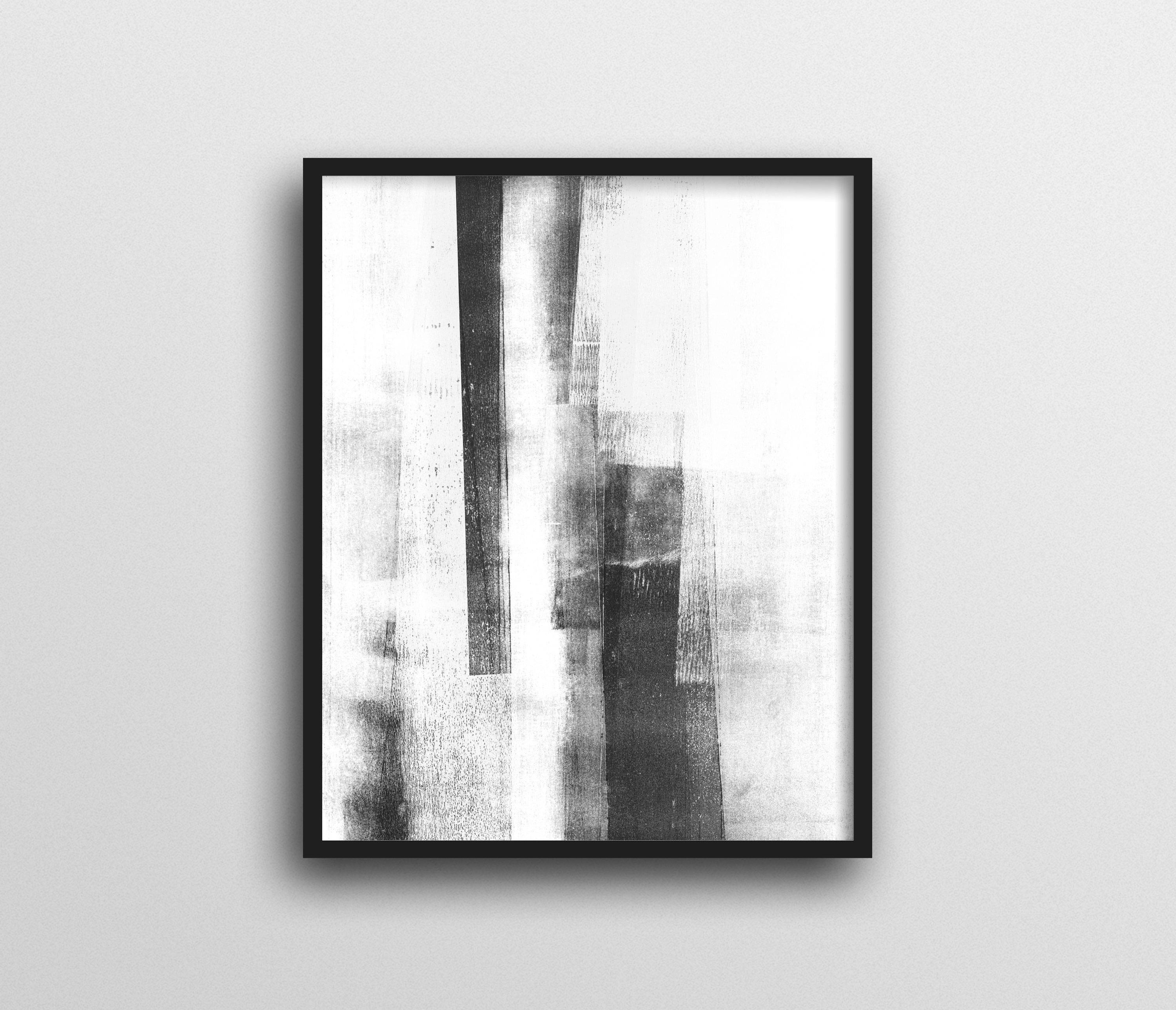 Black & White Wall Art Prints, Scandinavian Art, Minimalist Poster With Most Up To Date Abstract Wall Art Posters (View 6 of 15)