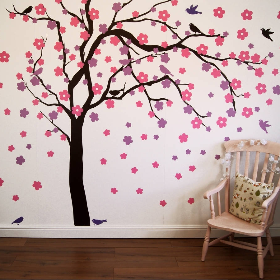 Blossom White 3D Wall Art Pertaining To Preferred Summer Blossom Tree Wall Stickersparkins Interiors (View 6 of 15)