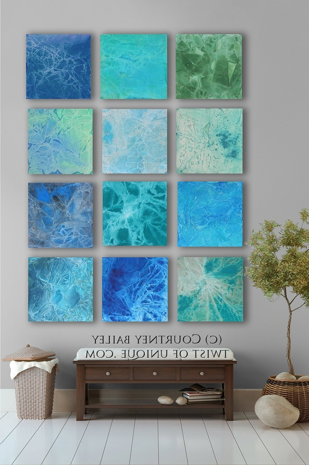 Blue Abstract Wall Art Inside Newest Fun Metal Abstract Wall Art Circle Bubble Wave Shaped Find This (View 4 of 15)
