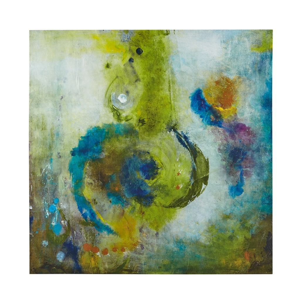 Blue And Green Wall Art With Popular Blue & Gold Abstract Wave Wall Art – Set Of  (View 5 of 15)