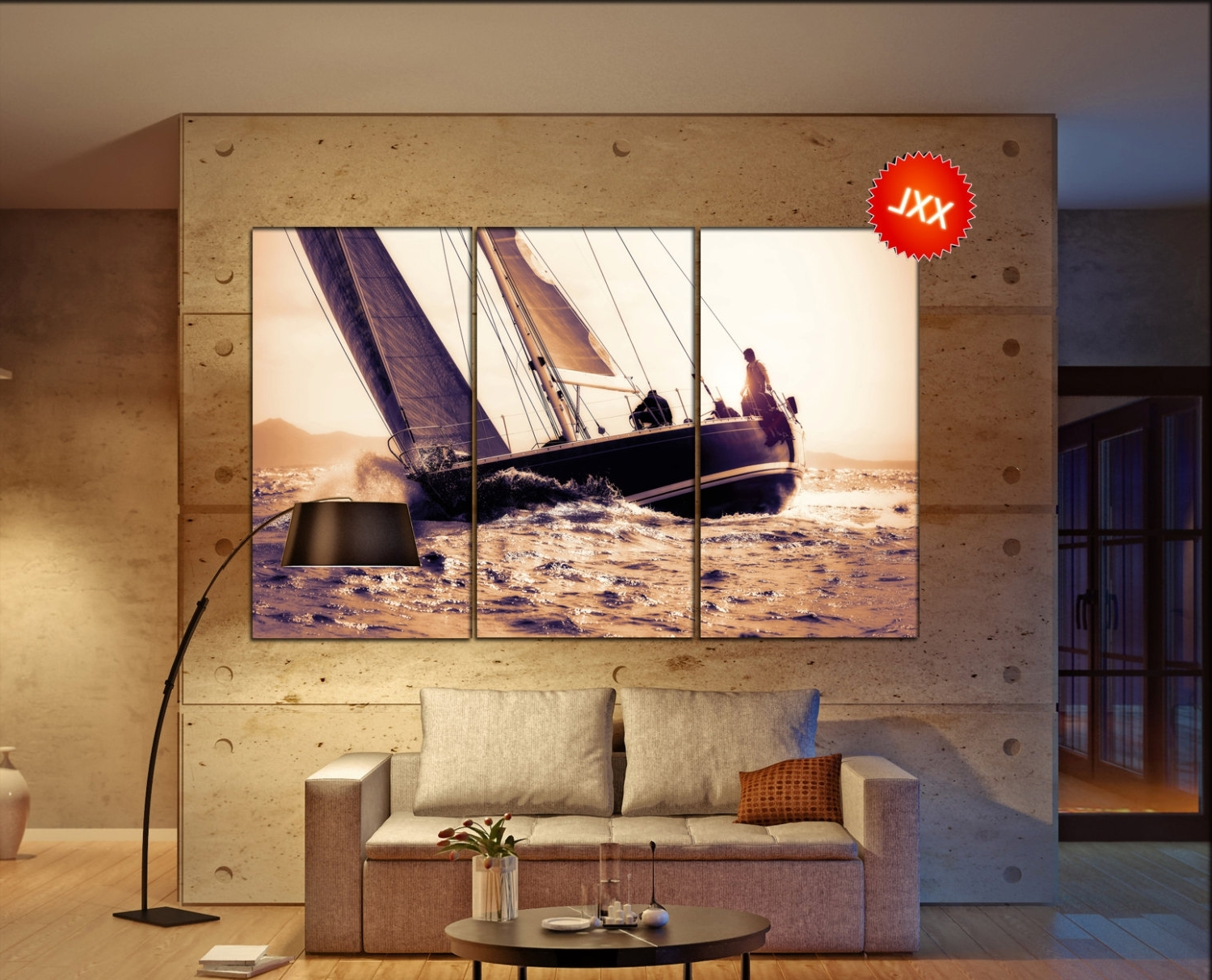 Boat Wall Art Intended For Most Recently Released Sail Boat Canvas Wall Art Sail Boat Wall Decoration Sail Boat (View 6 of 15)