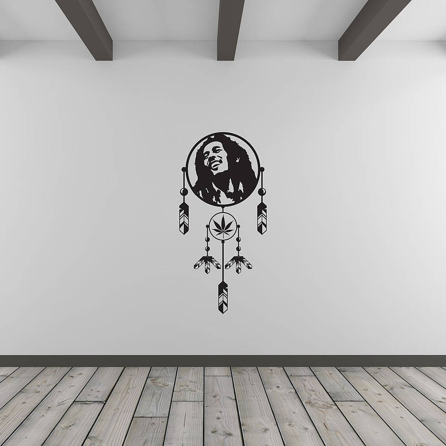 Bob Marley Dreamcatcher Vinyl Wall Art Decalvinyl Revolution With Popular Bob Marley Wall Art (View 3 of 15)