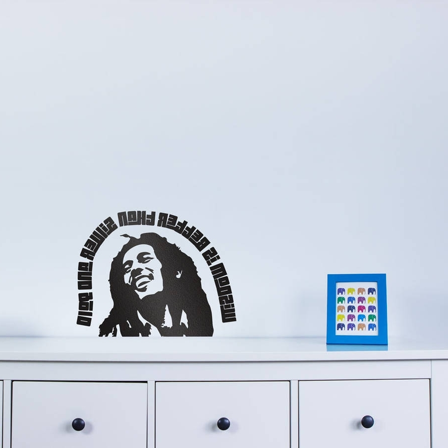 Bob Marley Wall Art For Recent Bob Marley Quote – Wisdom Wall Art Decalvinyl Revolution (View 4 of 15)