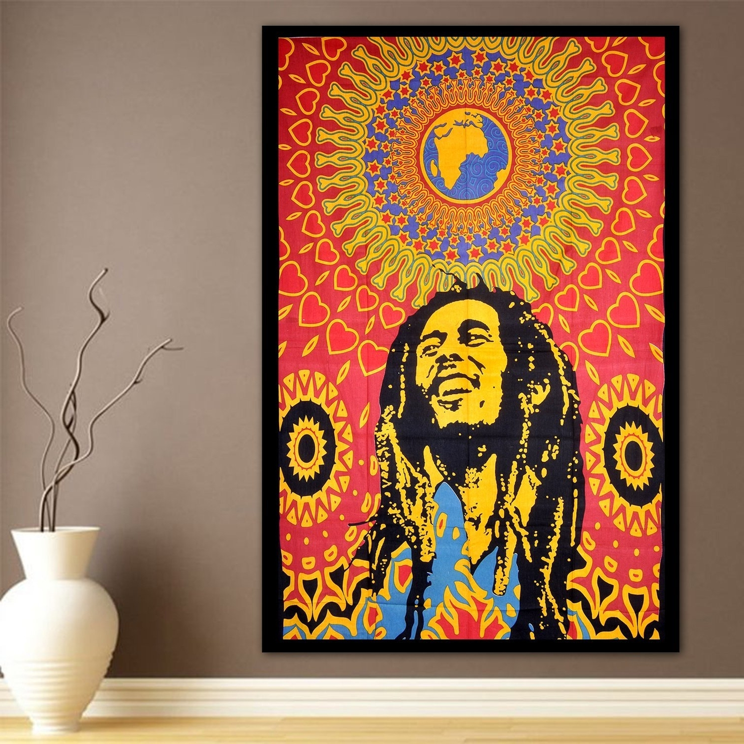 Bob Marley Wall Art Throughout Favorite Amazon: Modtradindia Bob Marley Tapestry, Indian Hippie Wall (View 7 of 15)