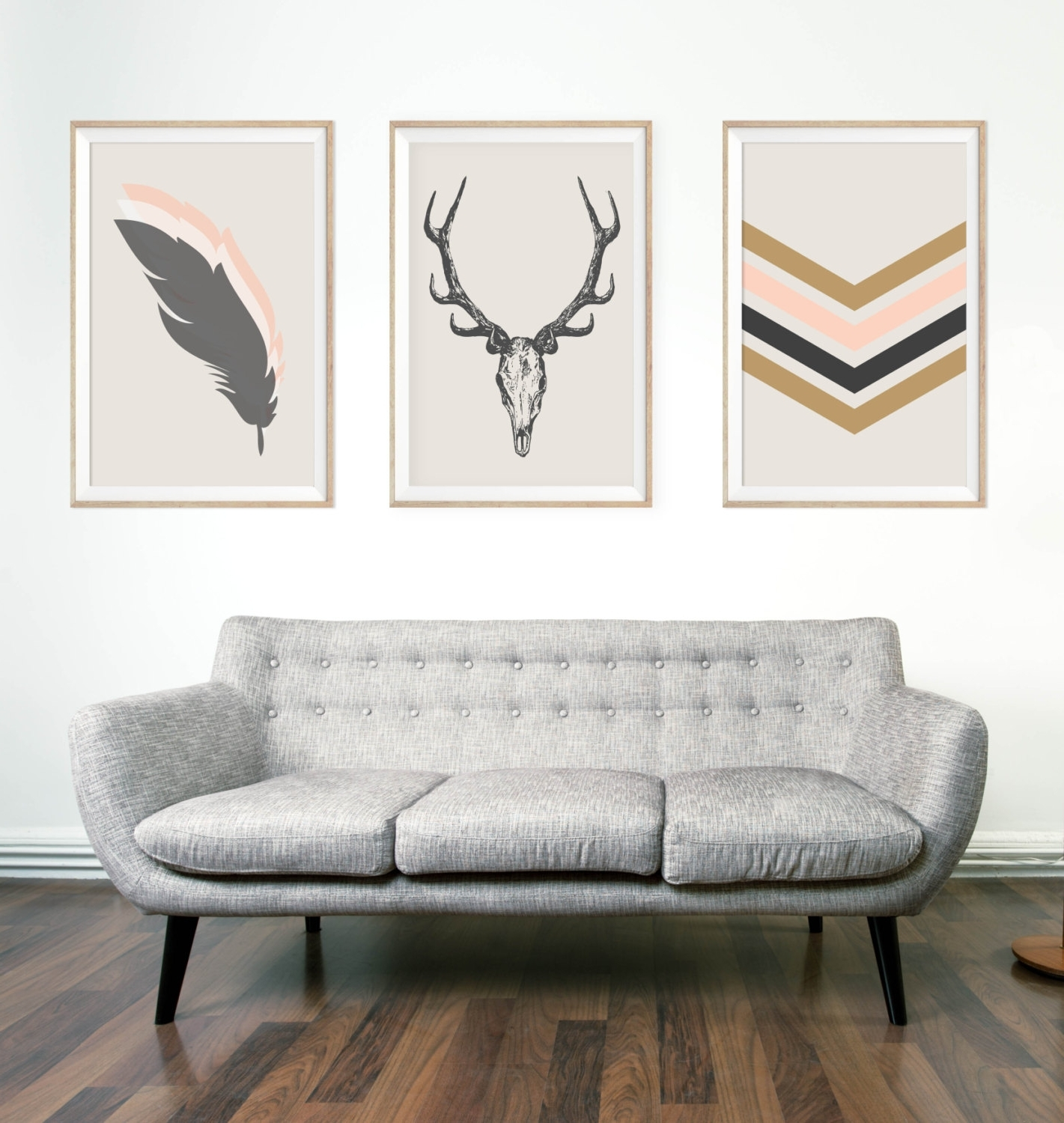 Boho Chic Wall Art Inside Newest Southwestern Chic Minimalist Wall Art Print Deeralphonnsine (View 2 of 15)