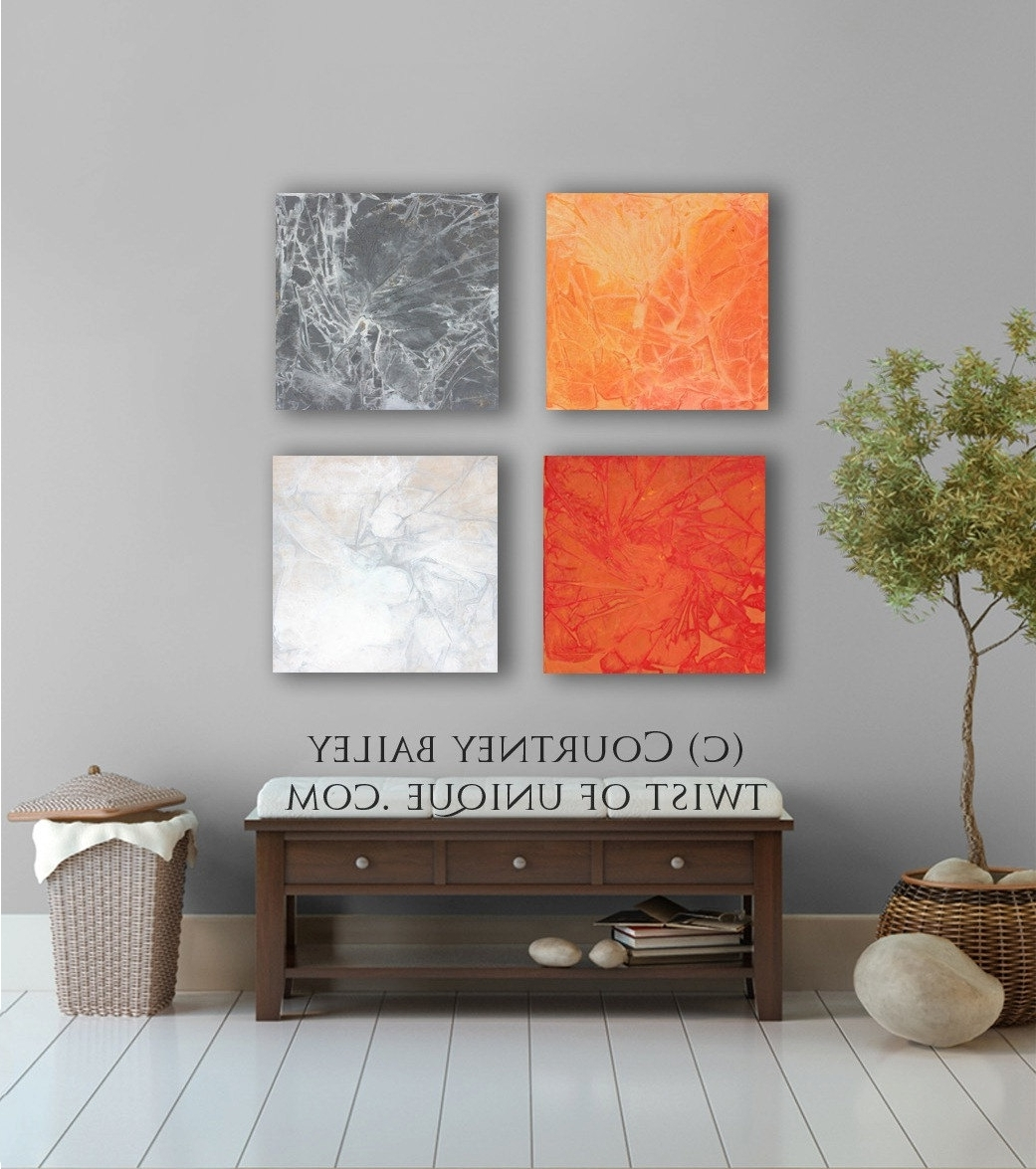 Bold And Vivid Large Abstract Painting, – 4 Square Custom Abstract In Famous Bold Abstract Wall Art (View 9 of 15)
