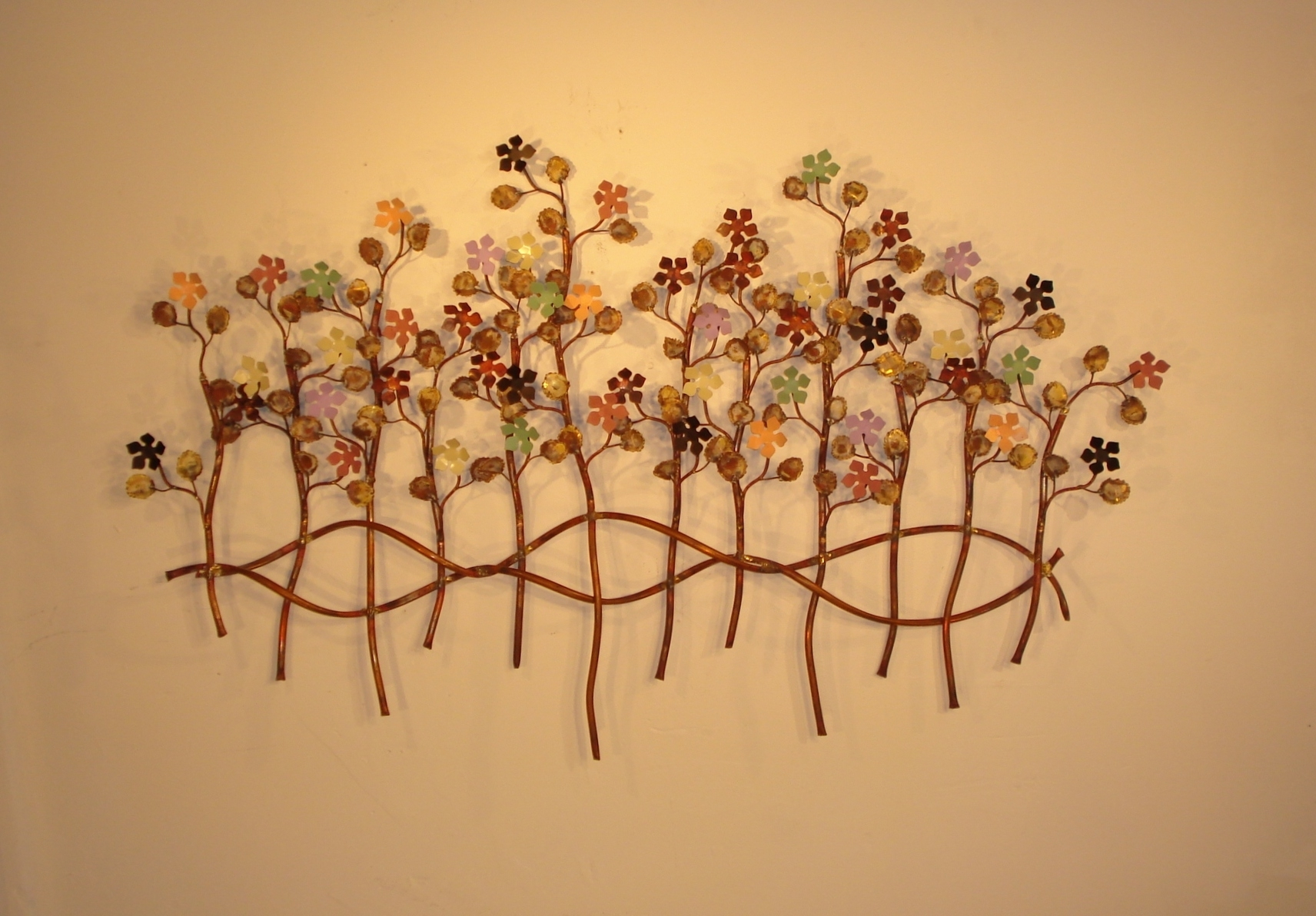 Botanical Metal Wall Art Pertaining To Popular Botanical Metal Wall Decor, Sculptures And Art (View 10 of 15)