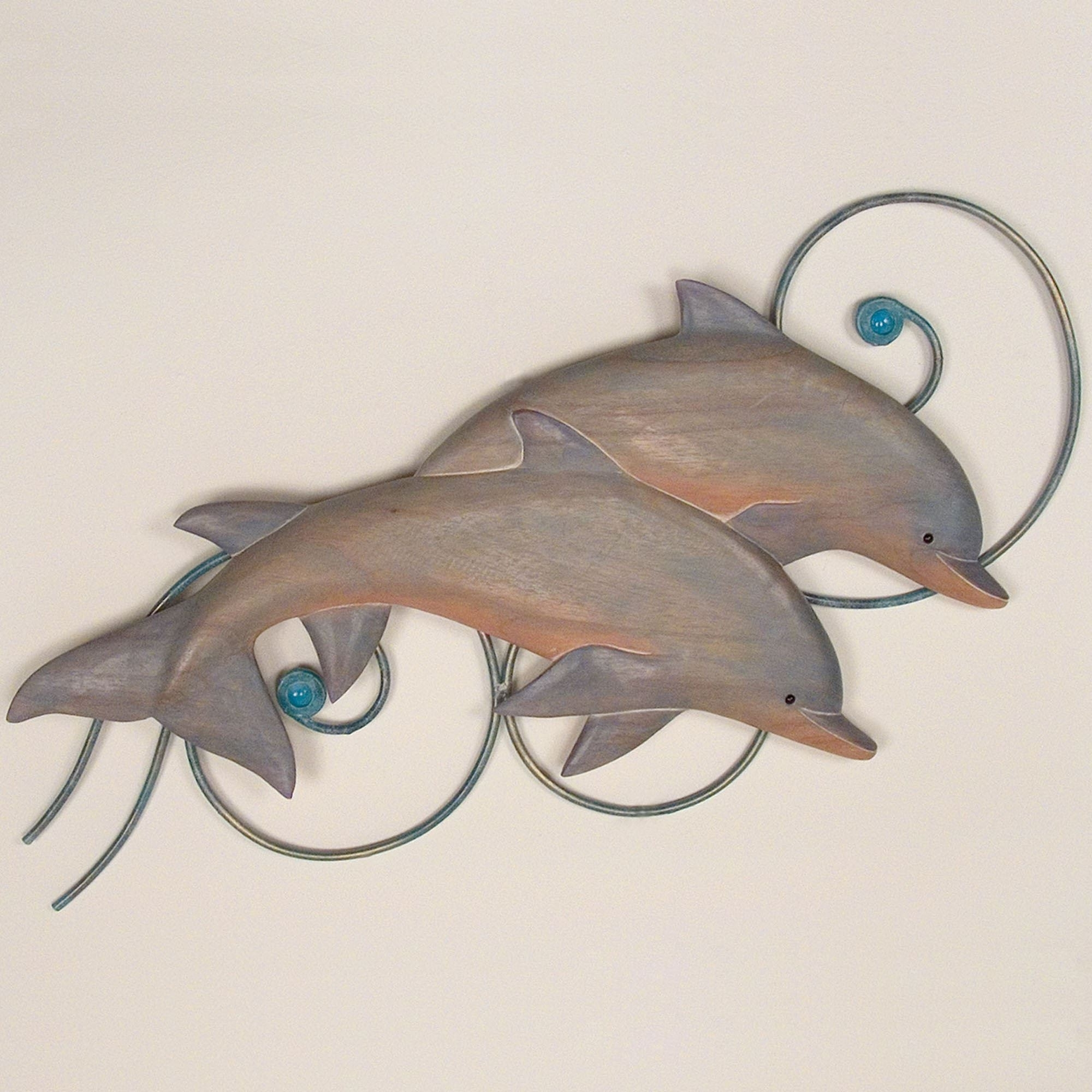 Bottlenose Dolphins Indoor Outdoor Wall Sculpture Regarding 2017 Dolphin Metal Wall Art (View 3 of 15)