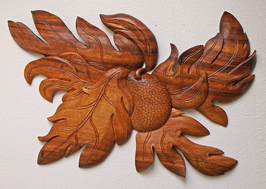 Breadfruit) Hand Carved Wall Piece For A Hawaiian Foundation (View 14 of 15)