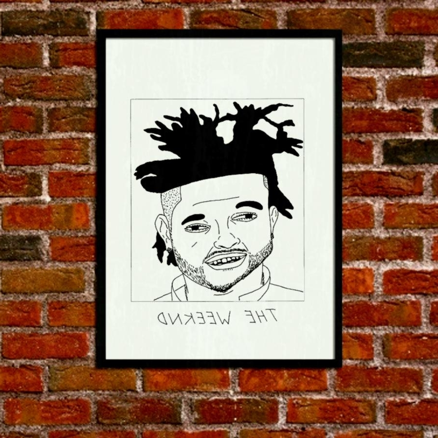 Brilliant Bachelor Pad Wall Decor Furniture Attractive Design Intended For Best And Newest The Weeknd Wall Art (View 3 of 15)