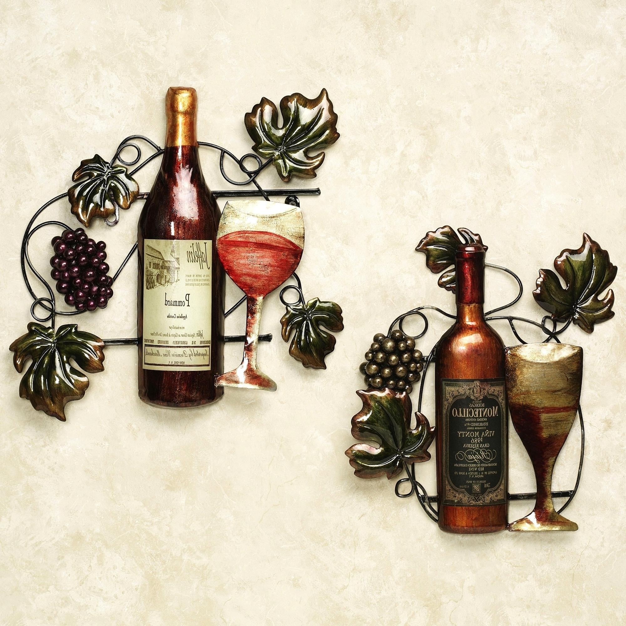 Brilliant Kitchen Metal Wall Art Decor Ideas Cozy Ideas Kitchen With Most Popular Wine Theme Wall Art (View 5 of 15)