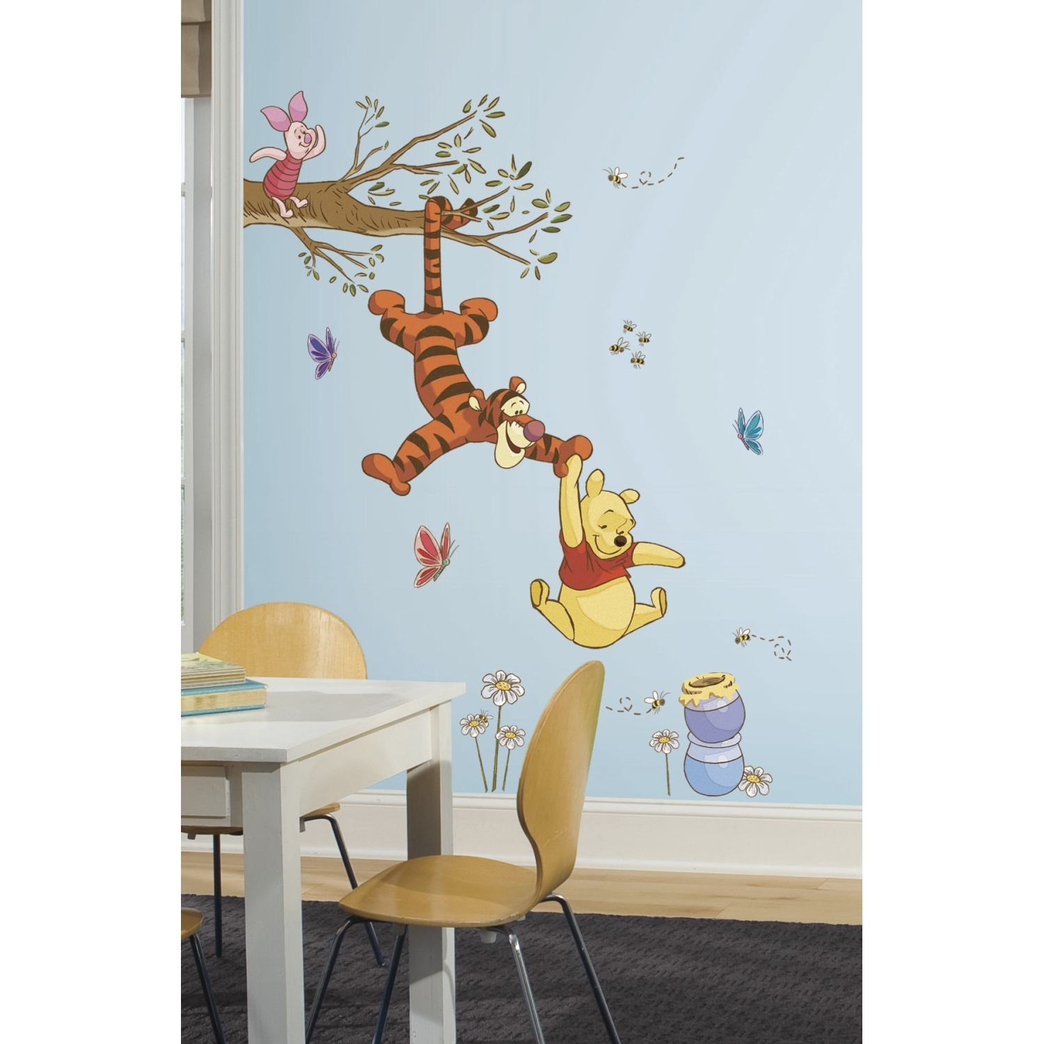 15 best winnie the pooh wall art for nursery. Black Bedroom Furniture Sets. Home Design Ideas