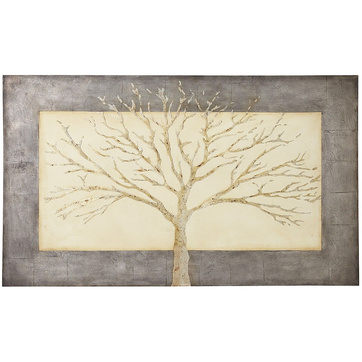 Bronze Tree Wall Art Regarding Most Current Stunning Simplicity Gray Tree Art (View 3 of 15)