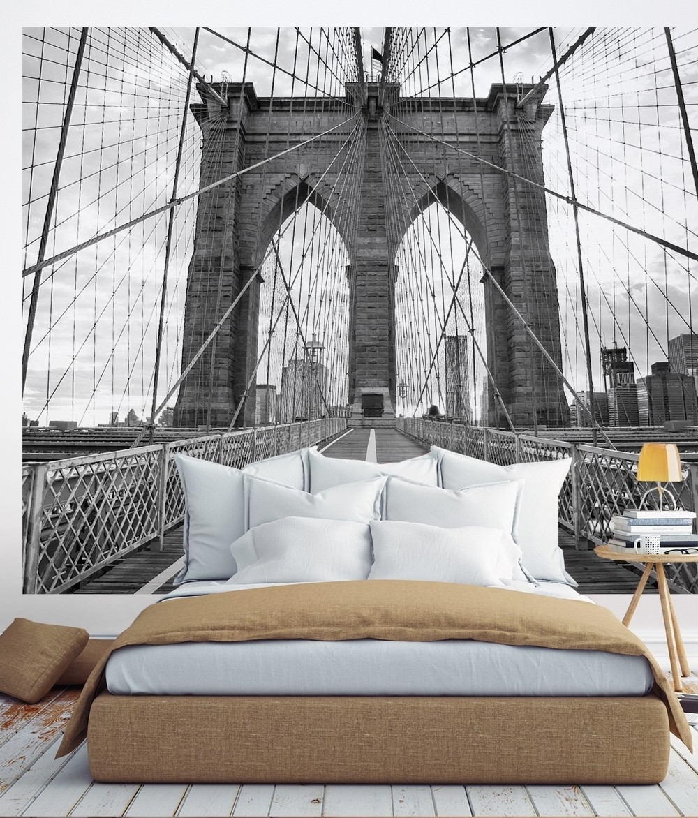 Brooklyn Bridge Wall Decals Intended For Most Popular Brooklyn Bridge Photograph Wall Art (View 5 of 15)
