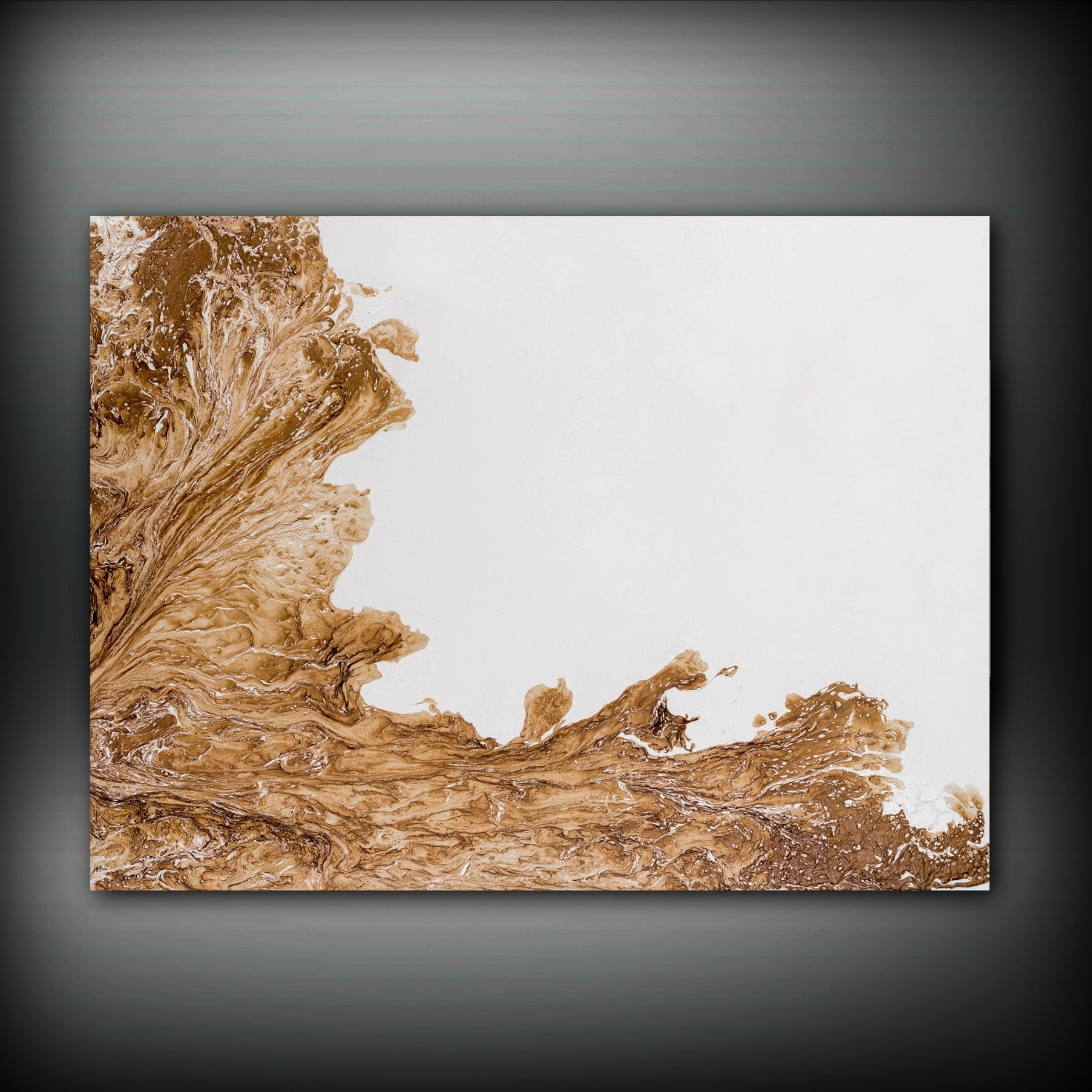 Brown And White Painting 30x40 Abstract Painting Copper Painting Throughout Best And Newest Brown Abstract Wall Art (View 15 of 15)