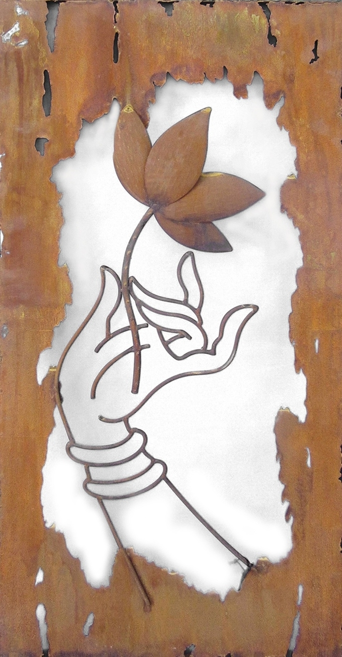 Buddha Outdoor Wall Art Regarding Most Popular Outdoor Laser Cut Wall Art – Buddha's Hand From Earth Homewares (View 5 of 15)
