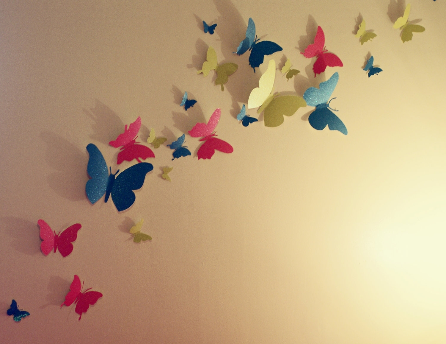Photo Gallery of Butterflies 3D Wall Art (Showing 4 of 15 Photos)
