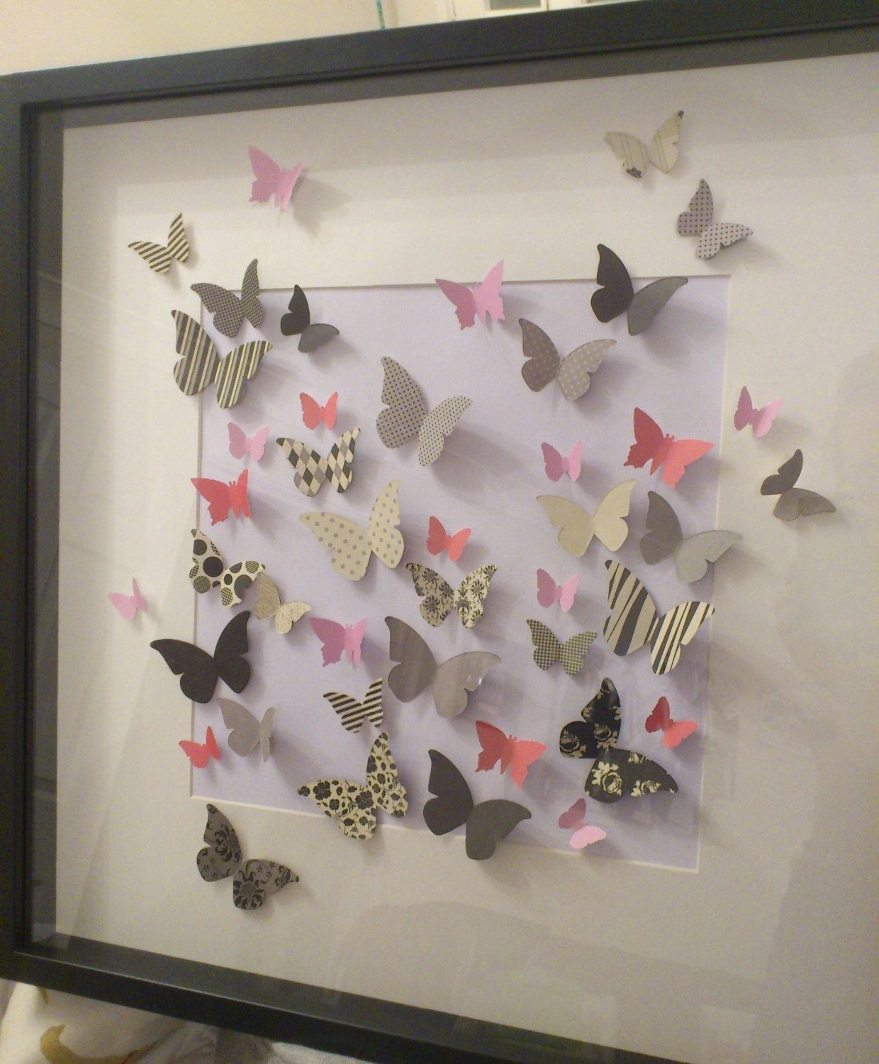 Butterfly 3D Wall Art – Unframed Paper Butterflies. £ (View 7 of 15)