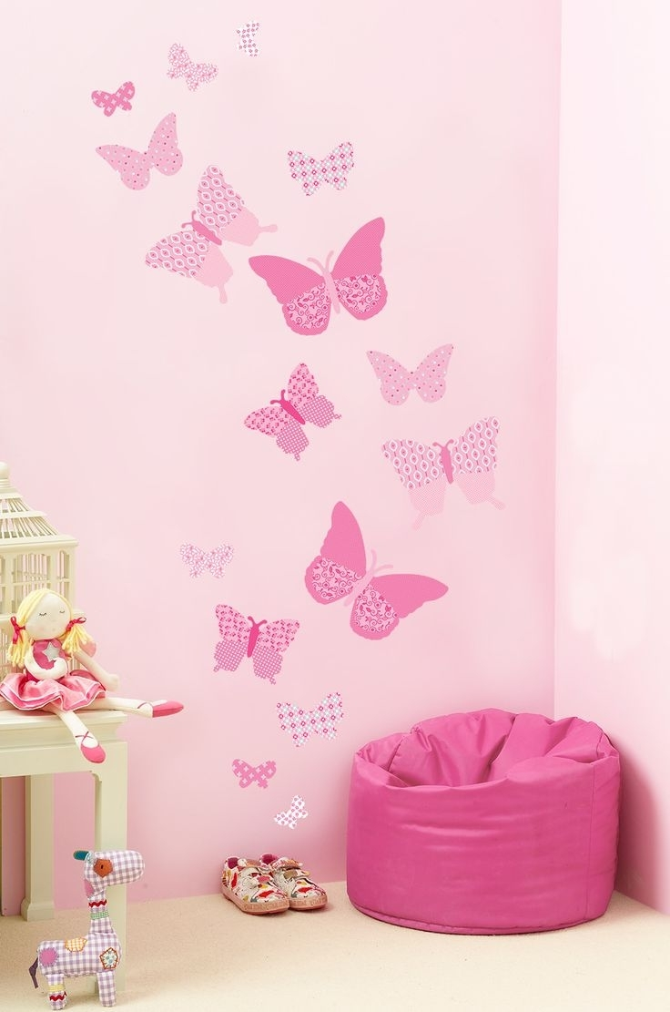 Butterfly Wall With Pink Butterfly Wall Art (View 2 of 15)