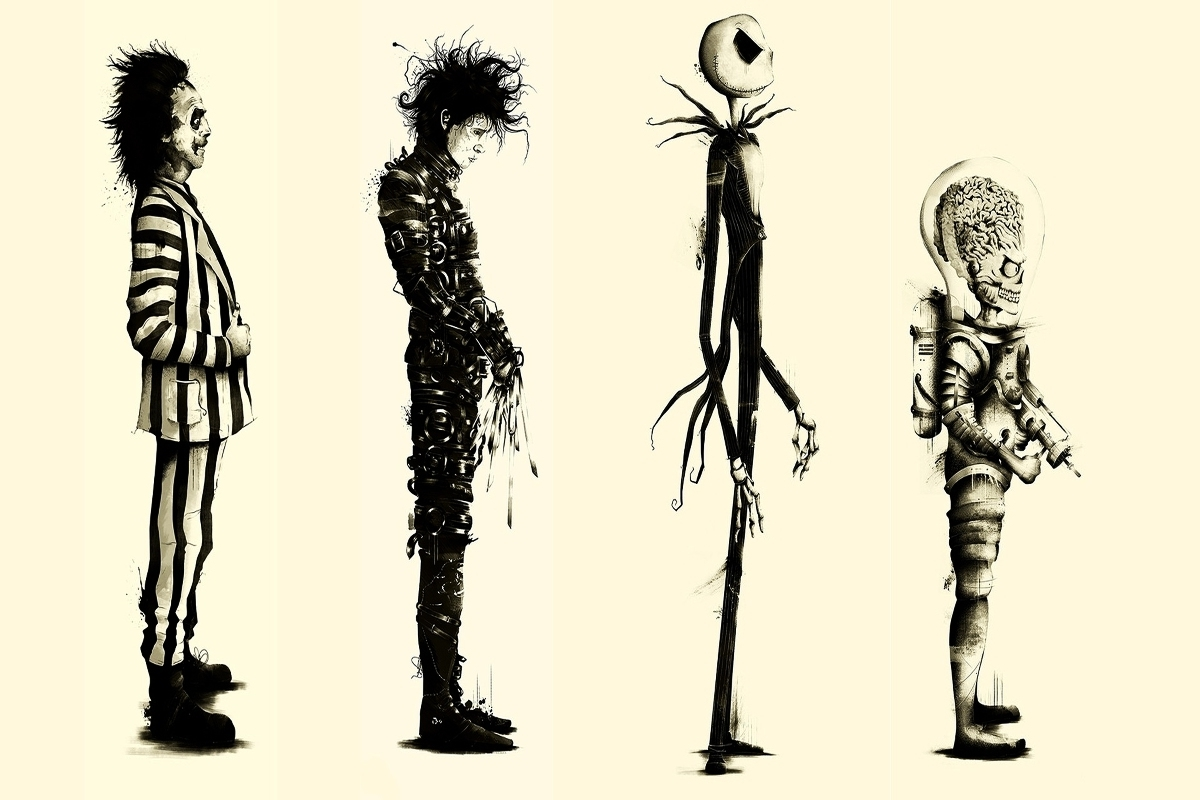 Buy Tim Burton Canvas And Get Free Shipping On Aliexpress With Recent Tim Burton Wall Decals (View 2 of 15)