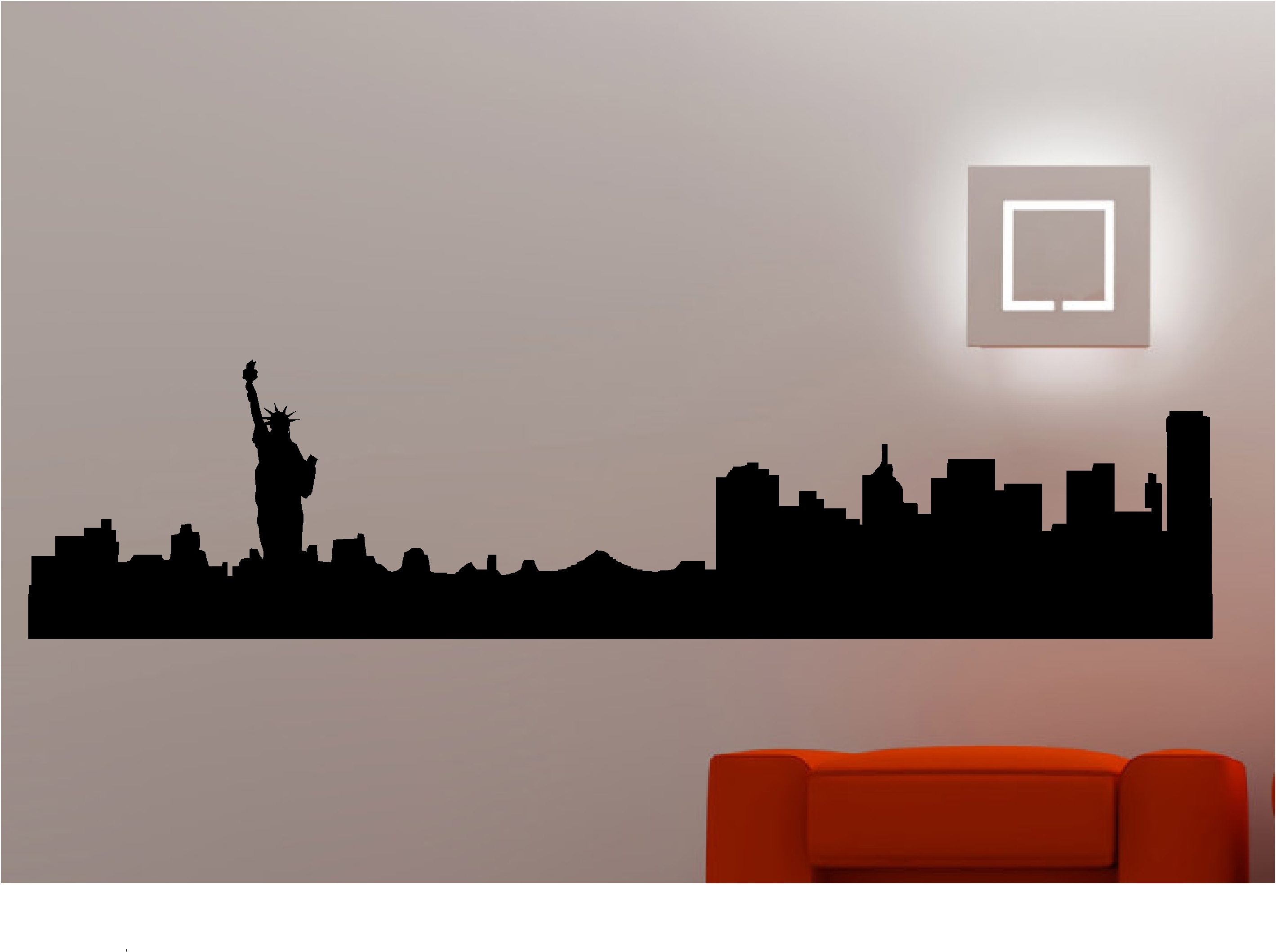 Cage New York City Skyline Wall Decal Light Hanging Black 3D For Well Liked New York & Displaying Gallery of New York 3D Wall Art (View 3 of 15 Photos)