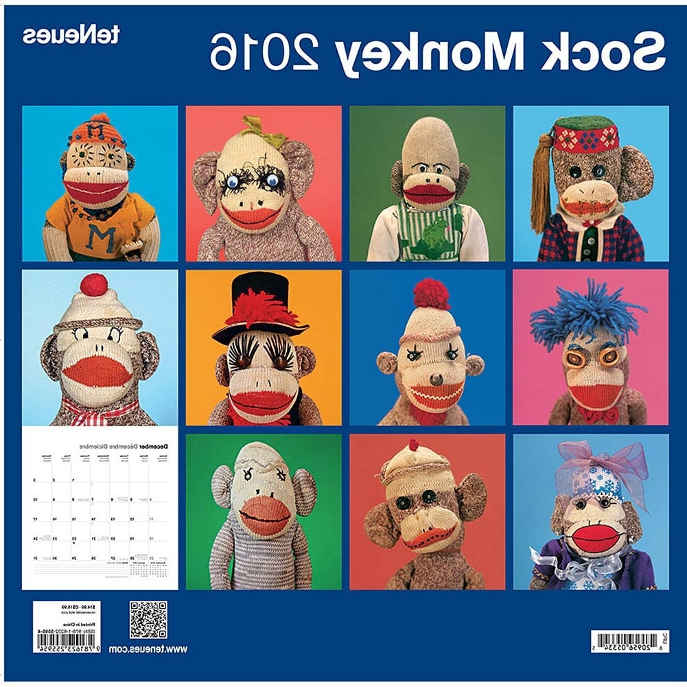 Calendars For Sock Monkey Wall Art (View 2 of 15)