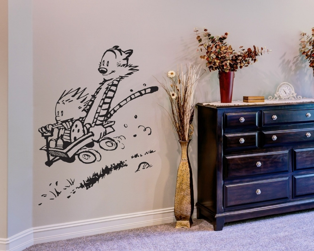 Calvin And Hobbes Wall Art With Favorite Wall Decal Vinyl Sticker Calvin And Hobbes Home House Living Room (View 12 of 15)