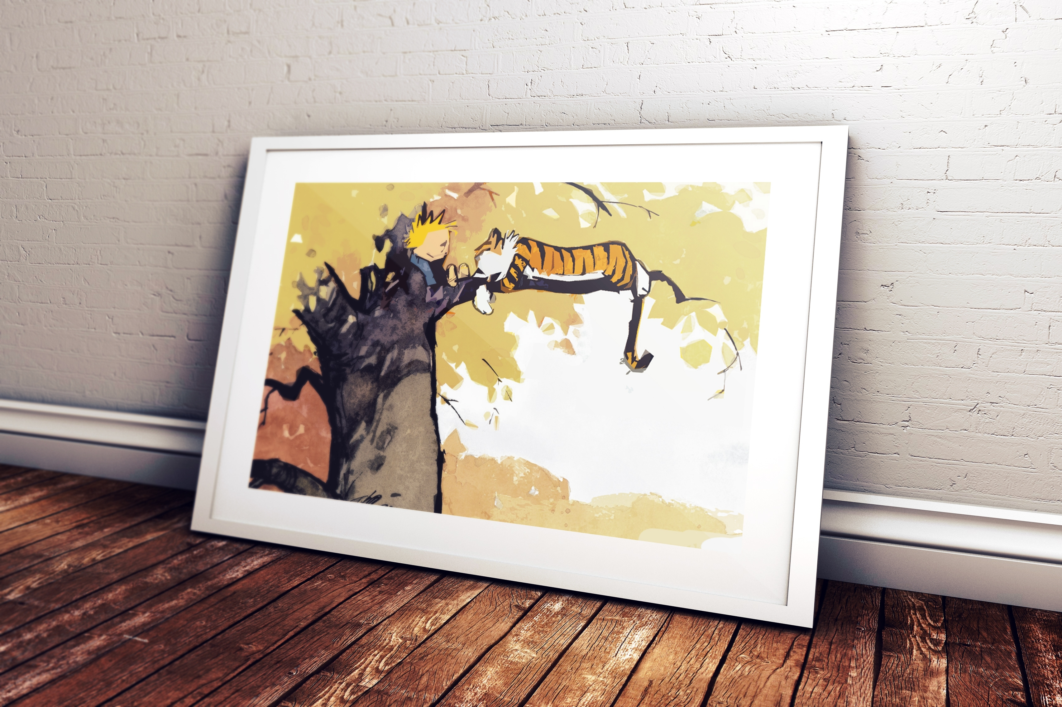 Calvin And Hobbes Wall Art Within Newest Calvin & Hobbes Water Colour Art Print – Sploosh Design (View 14 of 15)