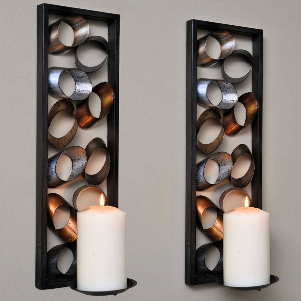 Featured Photo of Metal Wall Art With Candles