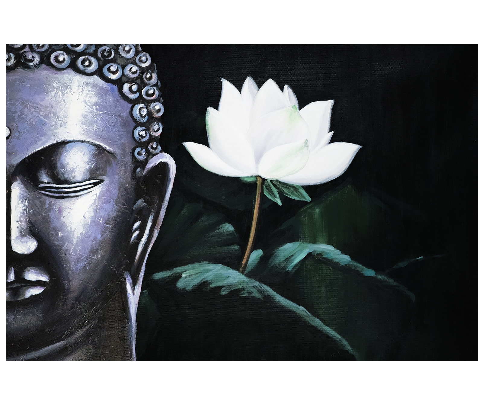 Canvas Art Prints Contemporary Art Paintings Abstract Art Inside Well Known Abstract Buddha Wall Art (View 8 of 15)
