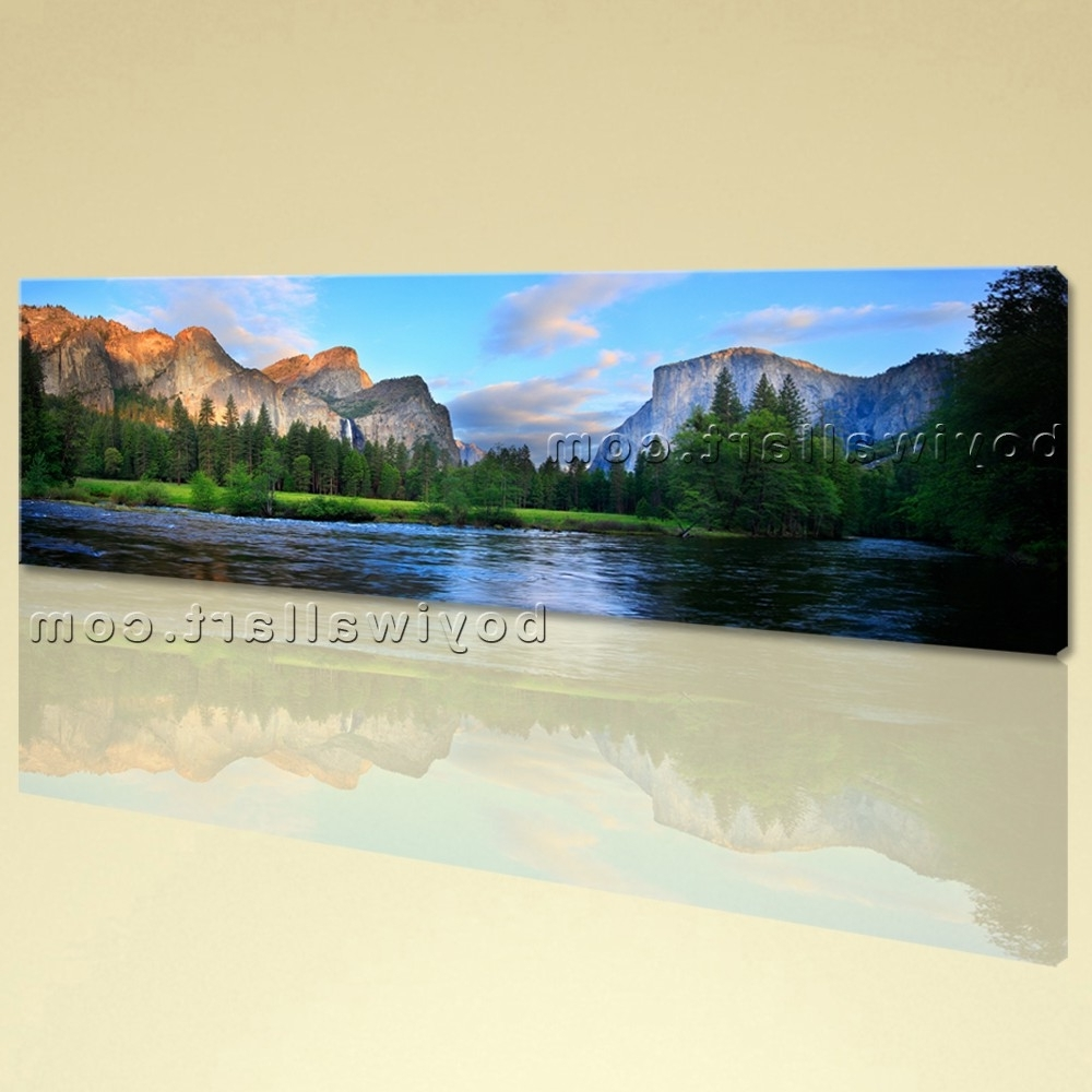 Canvas Landscape Wall Art With Well Liked Large Yosemite National Park Landscape On Canvas Print Wall Art (View 6 of 15)