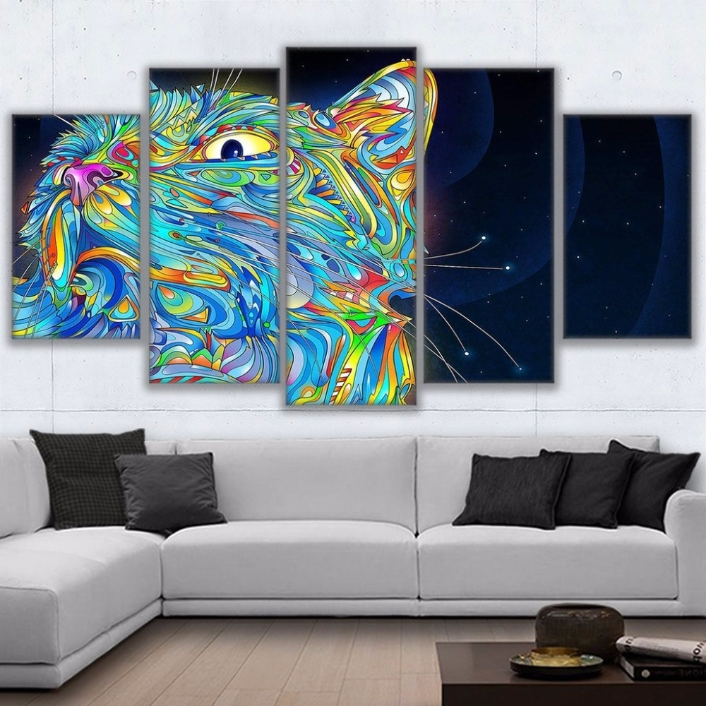 Canvas Paintings Modular Room Wall Art Frame Home Decor 5 Pieces Pertaining To Most Recently Released Modular Wall Art (View 3 of 15)