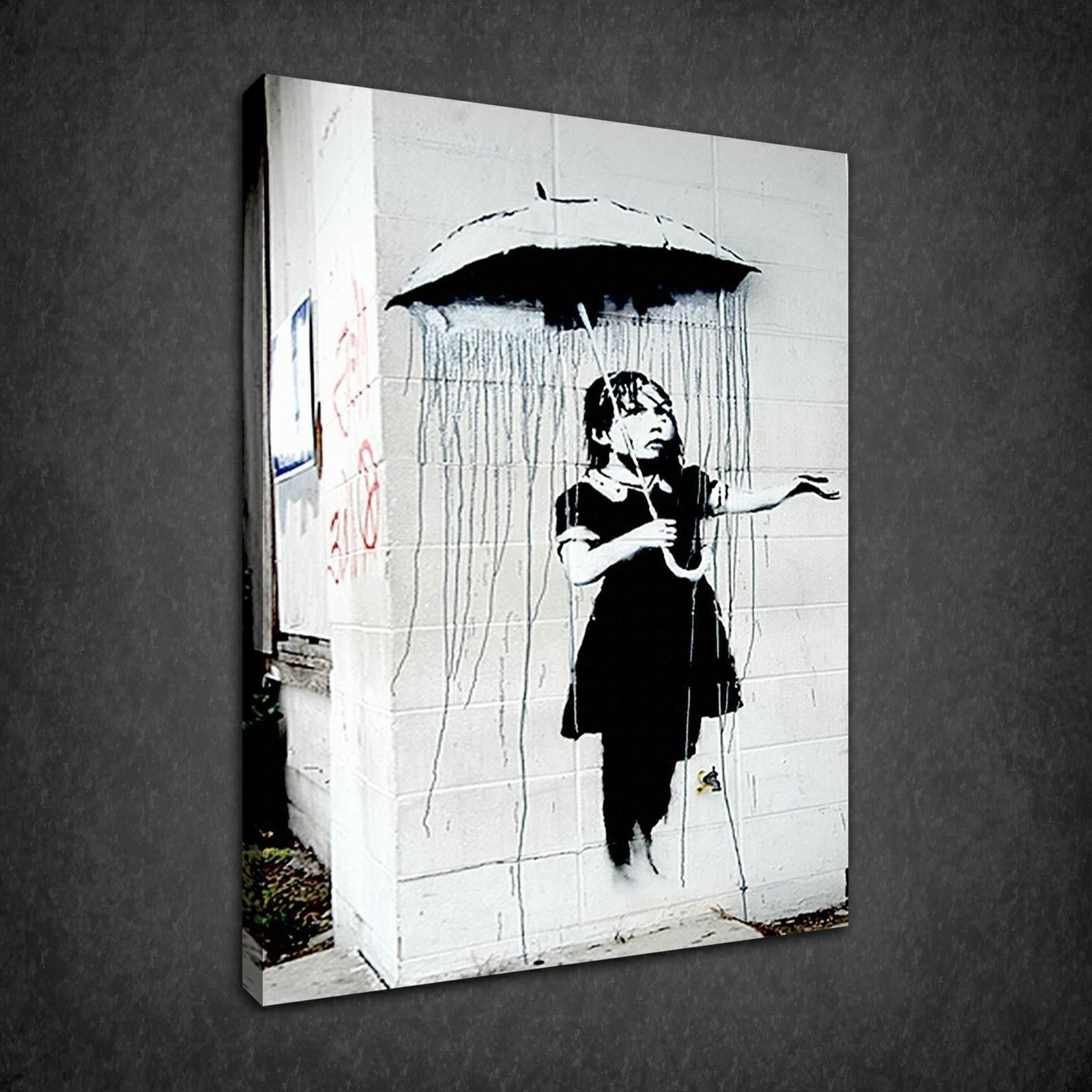 image gallery of banksy wall art canvas view 1 of 15 photos