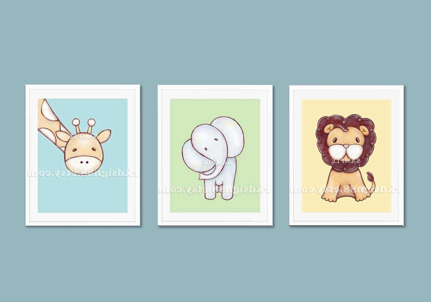 Canvas Prints For Baby Nursery With Most Recently Released Classy Inspiration Childrens Wall Art Or Children S Jungle (View 8 of 15)