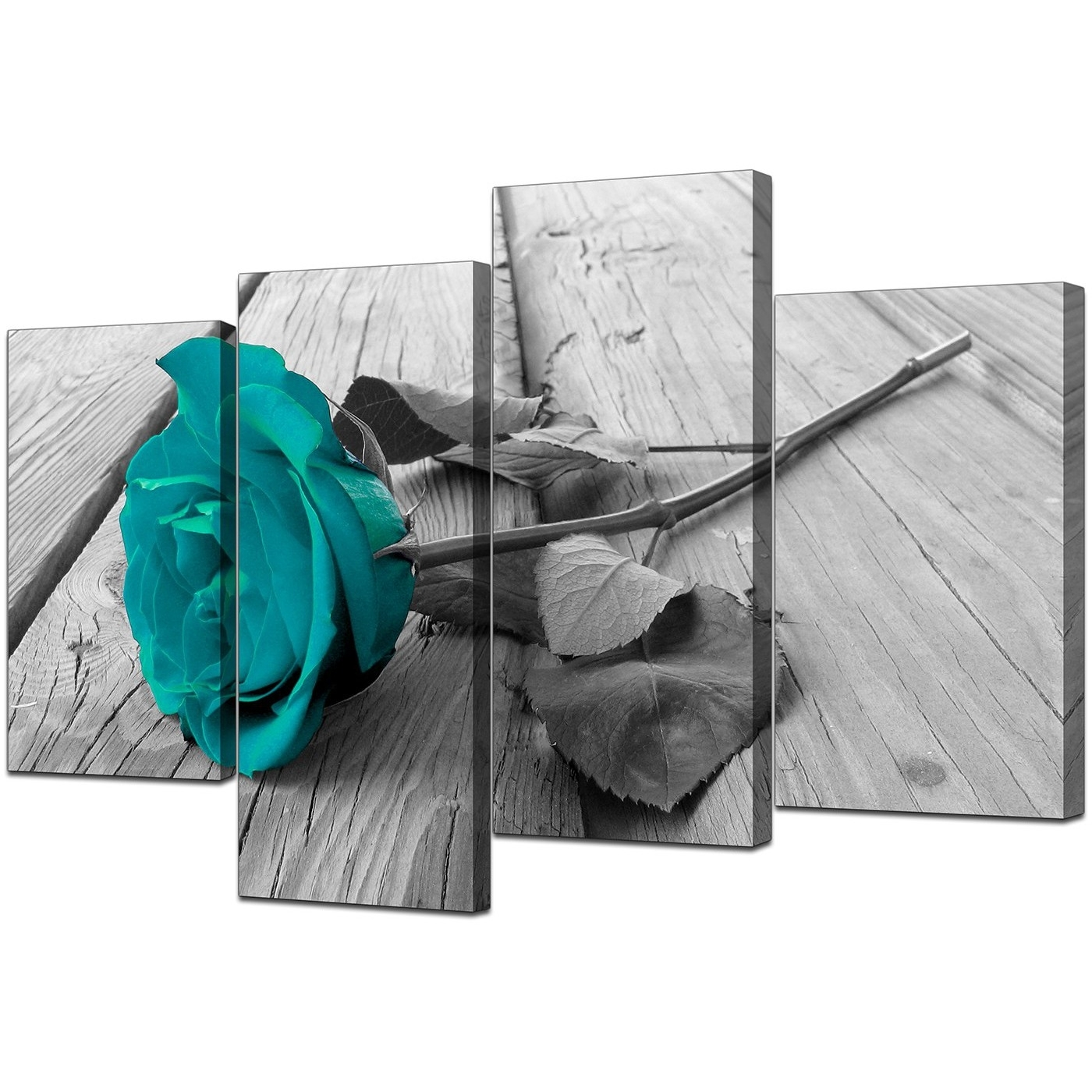 Featured Photo of Teal And Black Wall Art