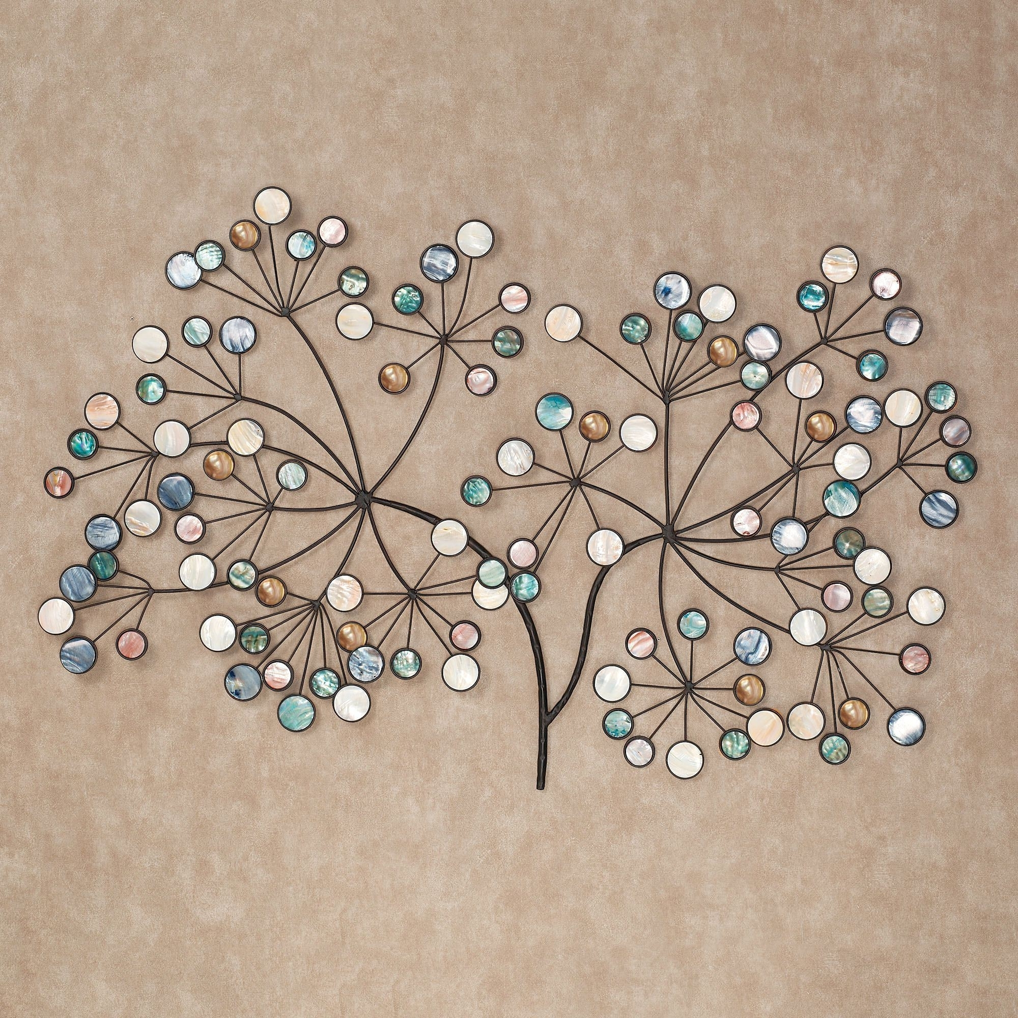 Capizia Branch Metal Wall Sculpture Art With Regard To Most Current Duck Egg Blue Wall Art (View 2 of 15)