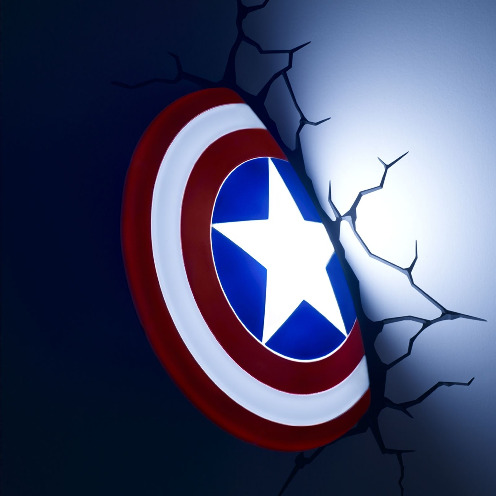 Captain America, 3D Wall Light ~ Sticky Digital Within Fashionable Hulk Hand 3D Wall Art (View 3 of 15)