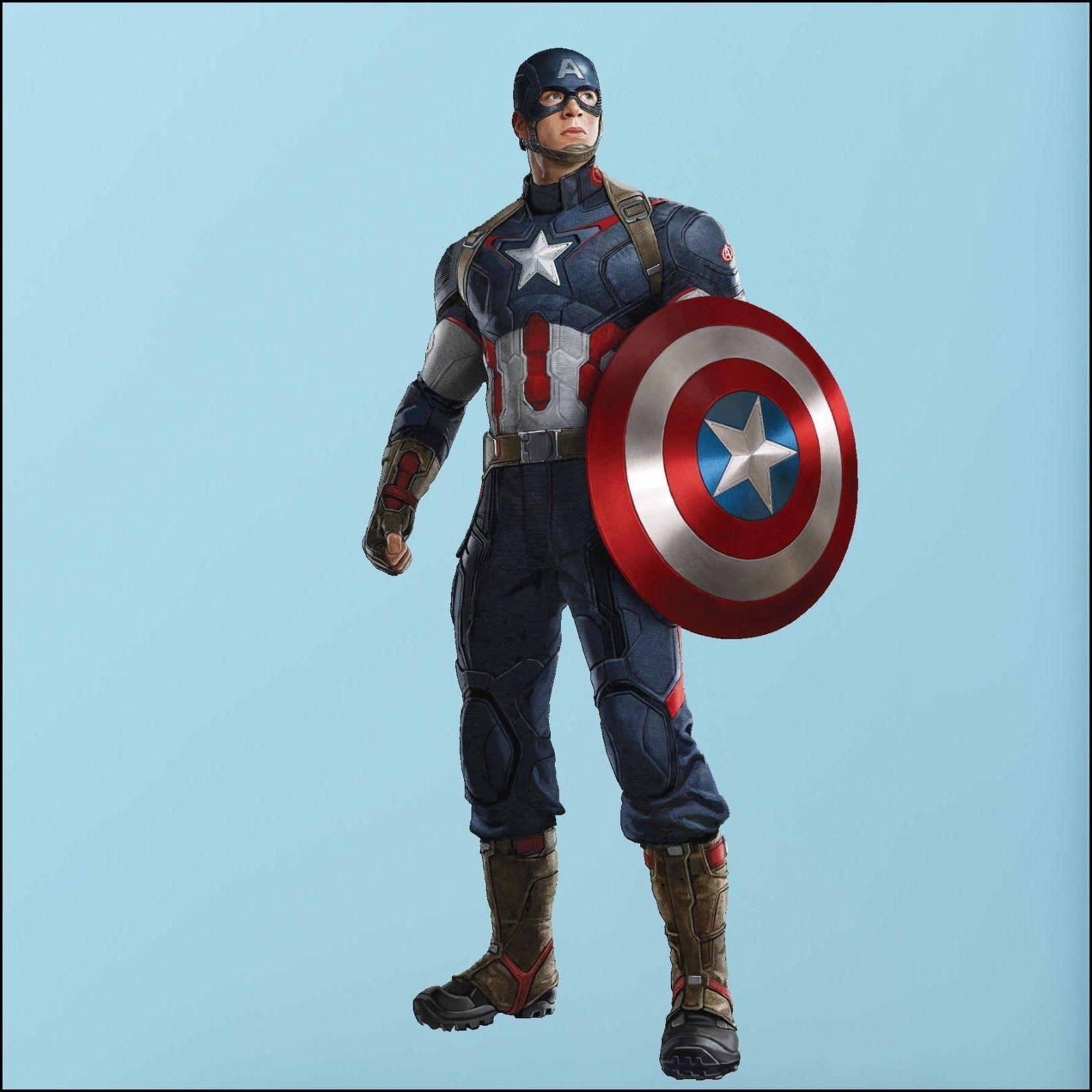Captain America Avengers Photo Quality 3D Wall Sticker Art Mural Regarding Popular Avengers 3D Wall Art (View 6 of 15)