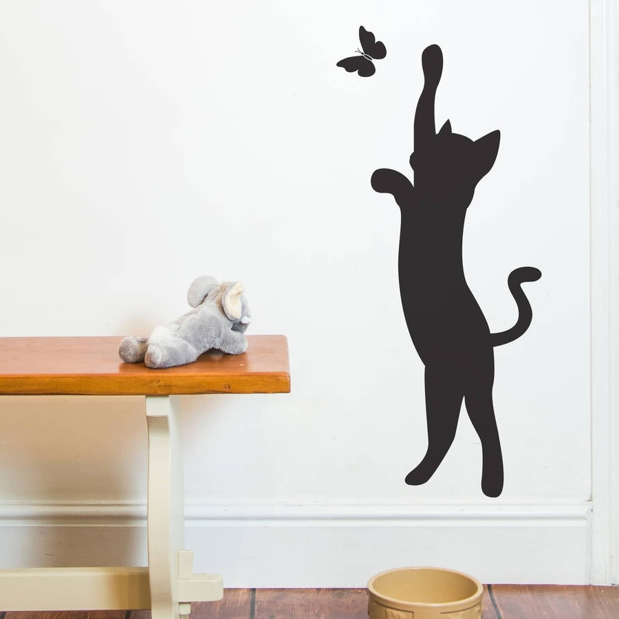 Cat And Butterfly Wall Stickernutmeg (View 14 of 15)