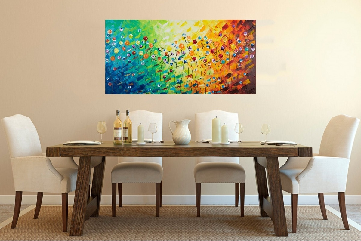 "Celebrationqiqigallery 48""x24"" Original Modern Abstract Wall Intended For Well Liked Abstract Wall Art For Office (View 10 of 15)"
