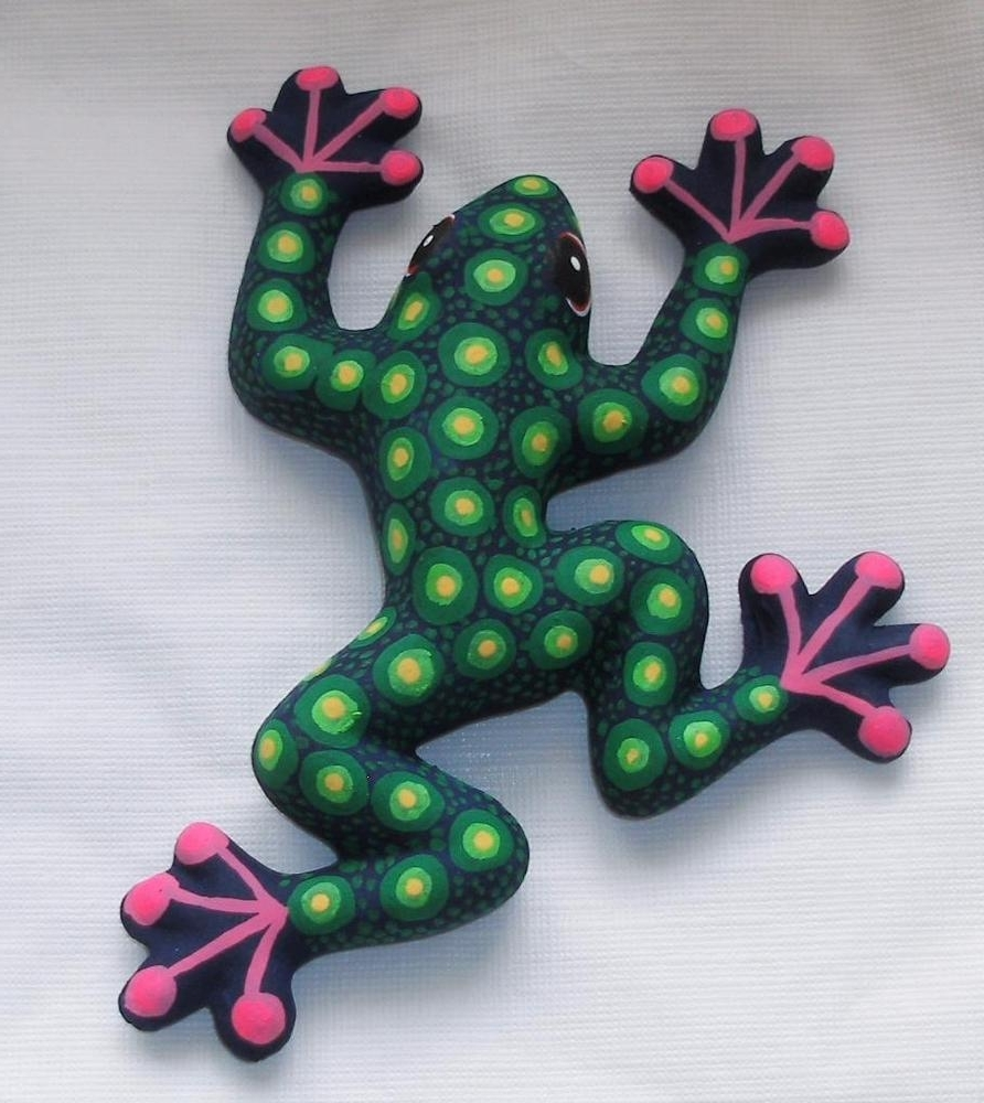 Ceramic Clay Frog Toad Figurine Hand Painted Mexican Wall Art 6 Intended For Best And Newest  sc 1 st  Arts Accents Decals Murals Collections and More. & Displaying Photos of Mexican Ceramic Wall Art (View 2 of 15 Photos)
