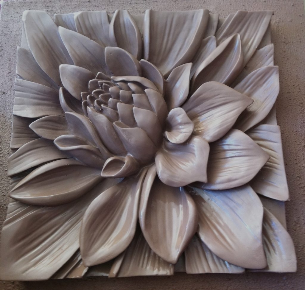 Gallery Of Ceramic Flower Wall Art