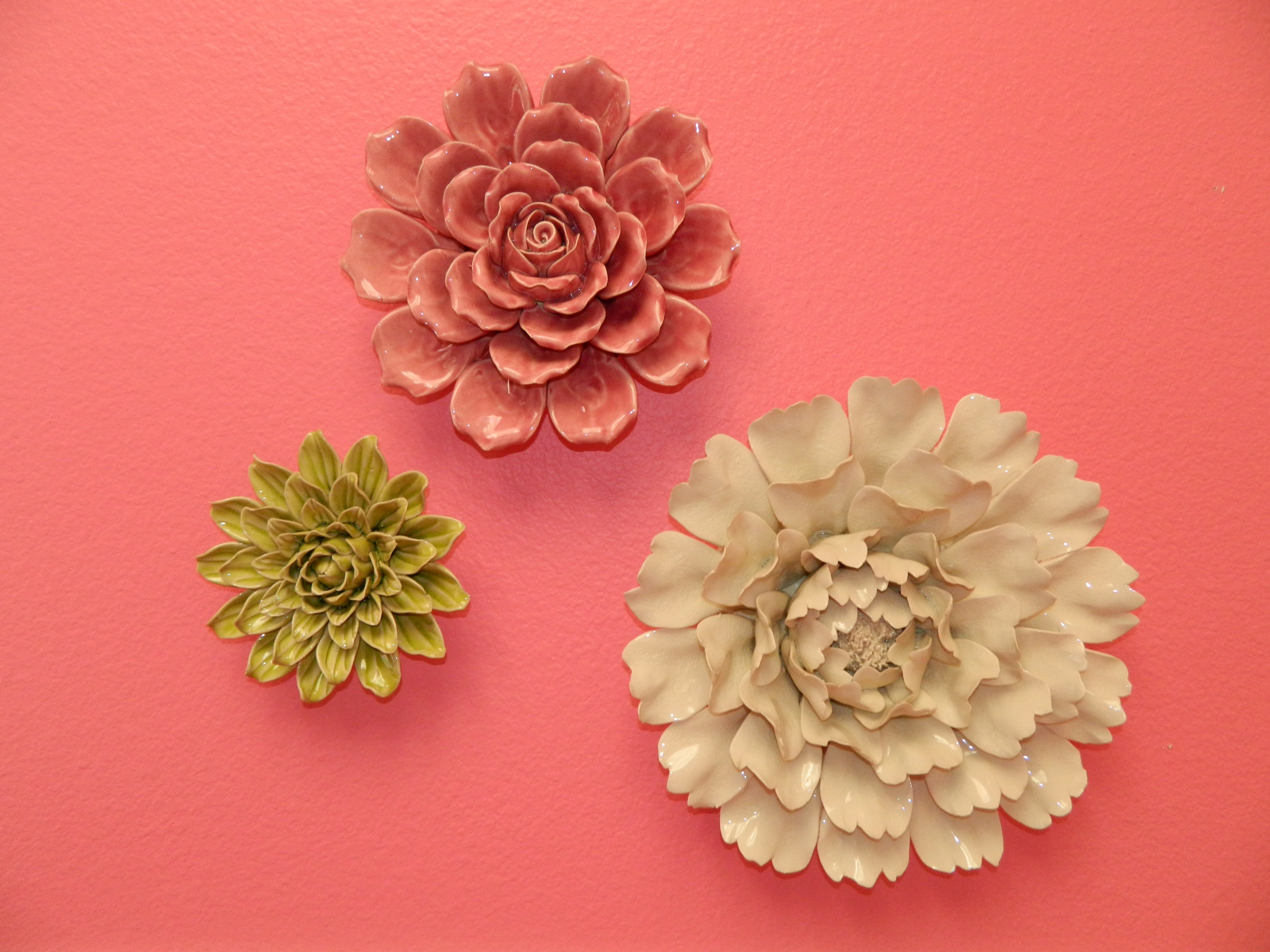 Ceramic Wall Flowers Brighten Up This Children's Room! (View 4 of 15)